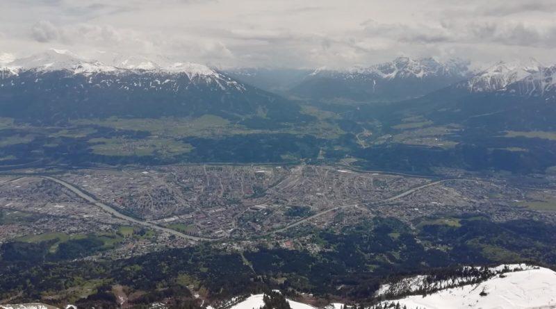 Blick auf Innsbruck von der Nordkette