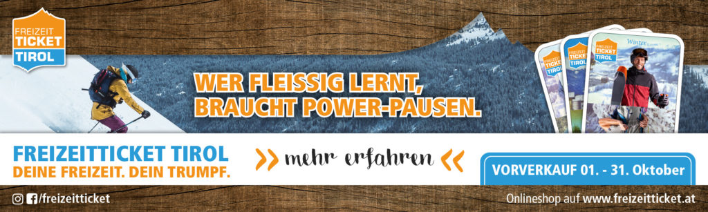 Alle Infos zum Freizeitticket Tirol