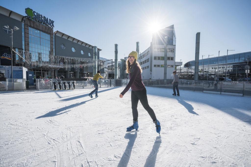 Eislaufen am Sillpark